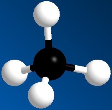 модель молекулы метана картинка самая известная наша