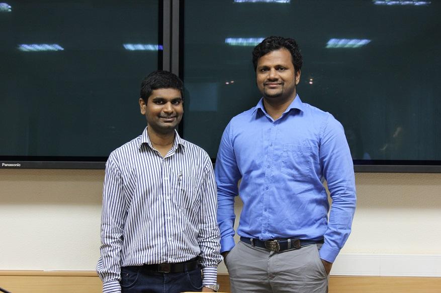 Prof Nalin Jayakody and PhD student Akashkumar Rajaram